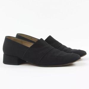Salvatore Ferragamo Womens Canvas Slip On Loafers